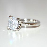 ANELLO fedina donna argento strass cristallo fedina regalo san valentino E30