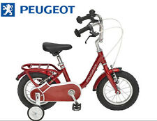 "Velo 12"" pouces enfant PEUGEOT Legend stabilisateur Rouge vintage NEUF babystar"