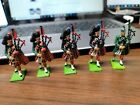 5 Vintage Lead Soldier Figures Bagpiper Britains Ltd. Made in England