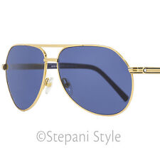 Montblanc Aviator Sunglasses MB504S 30V Yellow Gold/Navy 62mm 504