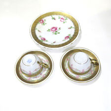 Royal Bayreuth Bavaria Teacup Saucer and Cookie Plate Pink Rose