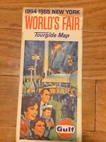 Vintage 1964-65 New York World's Fair Gulf Oil Tourguide Map