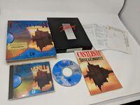 Castles II: Siege & Conquest (PC, 1992) game complete in box CIB!