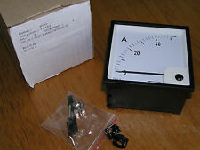 NEW - Weigel 685.130.9 PQ96KL Analog Panel Meter Moving Coil 0-50 A (0-20mA)