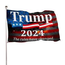 Trump Flag President 2024 Don Jr Ivanka Anti Biden Banner The rules have changed
