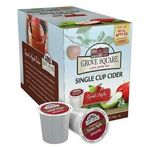 Grove Square Cider Single Serve Cups, Spiced Apple, 24 24 Count (Pack of 1)