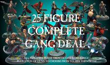 L'hérésie miniatures Sci-Fi Trenchcoat guerriers complète gang 25 figure affaire!