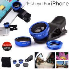 3 in1 Mobile Phone Camera Lens Set Fish Eye Wide Angle Macro Clip Ipad Iphone