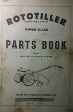 Rototiller Frazer B1-6 B1-6RS B1-7 B1-7RS B1-7A B1-7RA Tractor Parts Manual 34pg