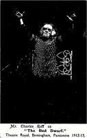 "POSTCARD  ACTORS CHARLES GOFF AS "" THE RED DWARF "" - BIRMINGHAM PANTO 1912"