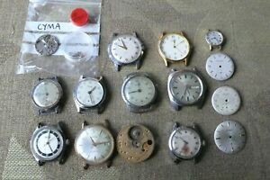 JOB LOT OF OLD VINTAGE WATCHES AND PARTS (LOT UU)