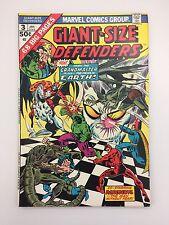 Giant Size Defenders #3 (1974 Marvel) 1st KORVAC Hulk Marvel Value Stamp