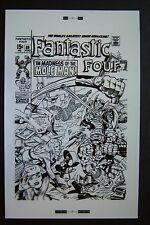 Original Production Art FANTASTIC FOUR #89 cover, JACK KIRBY art, Mole Man