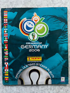 Panini Germany 2006 World Cup Sticker Album Messi & Ronaldo Rookie 77% Complete