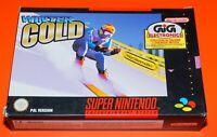 New Winter Gold Videogames Videogioco Gioco per Console Nintendo Super Nes Snes