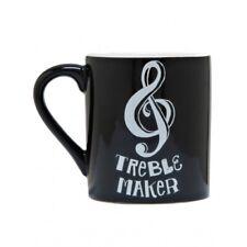 Hatley Funny Ceramic Coffee Mug TREBLE MAKER 14 Ounce Music Clef Trouble