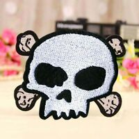 White Skull Embroidered Iron Transfer Sew On Patch Clothes Bag T Shirt Badge x