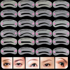 24 Styles Eyebrow Grooming Stencils Kit Template Makeup Beauty Shaper DIY Tool