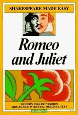 Romeo and Juliet (Shakespeare Made Easy) by William Shakespeare, Good Book