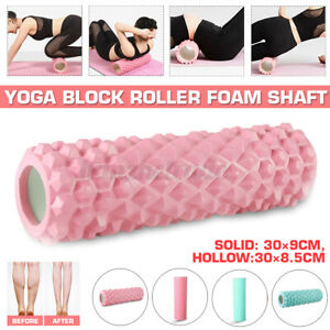 30CM Yoga Pilates and Sports Exercise Solid Hollow Foam Roller High Density EVA