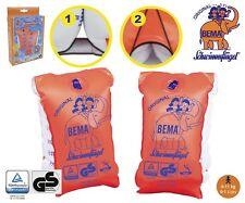 BEMA Schwimmflügel Schwimmhilfe Schwimmlernhilfe orange verschiedene Größen