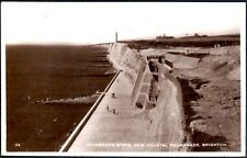 (Ref-13050) Sussex Ovingdean Steps Brighton - Real Photographic Postcard    Used