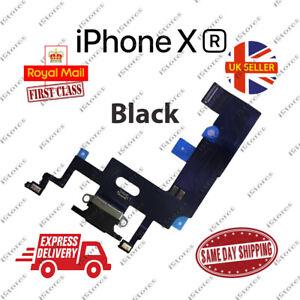 New iPhone XR Charging Port Flex Headphone Jack Mic Replacement Black