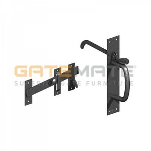 Gatemate Suffolk Latch Heavy Duty -  Gate Door Thumb Lock - Black / Galvanised