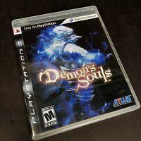 Demons SoulsPlayStation 3 2009 PS3 Black Label Complete CIB Tested VG CIB EUC