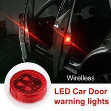 Universal Car LED Door Opened Warning Light Wireless anti-collid Flash Light 2pc