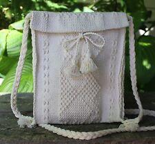 Cream Color Handbag Hand Woven on Back Strap Loom Santo Tomas Jalieza Oaxaca