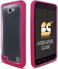 NEW PINK CLEAR AQUAFLEX TPU SKIN CASE FOR SAMSUNG GALAXY NOTE i717 N7000 i9220