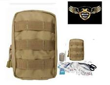 VAS Black Ops TACTICAL TRAUMA FIRST AID KIT #1 - COYOTE MOLLE BAG