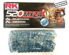RK 520 MXZ4 BLUE PREMIUM MOTOCROSS MX CHAIN for TM CROSS MX 125 144 250 300 450
