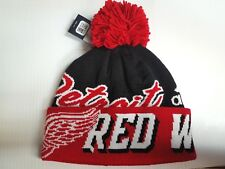 Detroit Red Wings Knit Hat Adidas Cuffed Pom Beanie Stocking Cap NHL
