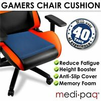 Gamer's Seat Pad - Cushion Wedge Non-Slip - For Support & Relief from Fatigue