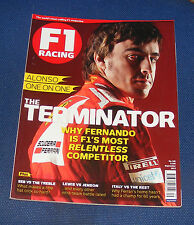 F1 RACING SEPTEMBER 2012 - ALONSO ONE ON ONE THE TERMINATOR