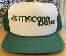 Vintage McCann Rents Snapback Trucker Hat - San Sun