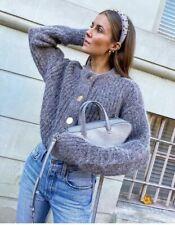 H&M Chunky Knit Wool Alpaca Blend Cardigan Sweater Big Button XL NWT Blogger
