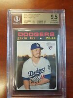 2020 Topps Heritage #188 Gavin Lux Action Rookie BGS 9.5 GEM MINT