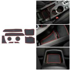 For Chevrolet Camaro 2016+ Non-slip Interior Door Slot Rubber Cup Holder Mat Red