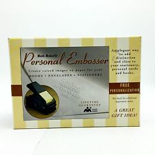 Mark Maker Personal Embosser Personalized Desk Book New in Sealed Box