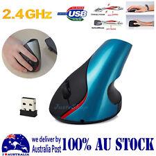 2.4G Wireless Ergonomic Design Vertical Optical Wrist Healthy Healing Mouse BLUE