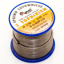 Lötzinn 2,0 mm 250 g Zinn mit Flussmittel Lötdraht Lot Röhrenlot Wire Sn60Pb40