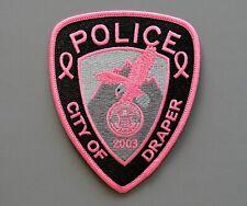 Draper Utah Pink Police Patch +++ Breast Cancer Awareness UT