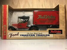 Ertl Ford 1918 Tractor Trailer 1:25 scale True Value Hardware Bank DieCast Metal