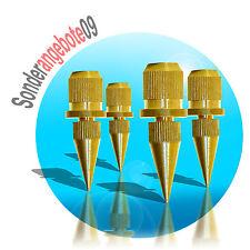 4 x ABSORBER Noicekiller Dynavox Spikes Messing BOXENFÜßE LautsprecherFüße klein
