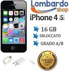 APPLE IPHONE 4S 16GB NERO GRADO AB ORIGINALE RIGENERATO RICONDIZIONATO USATO
