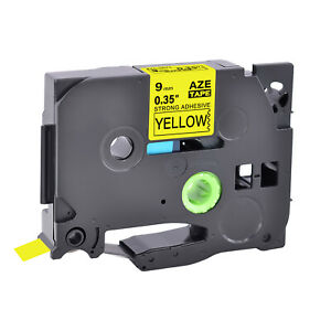 """Compatible Brother Strong Adhesive Tze TZ-S621 P-Touch Yellow Label Tape 0.35"""""""