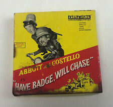 vintage CASTLE FILMS No 850 ABBOTT and COSTELLO HAVE BADGE WILL CHASE Super 8